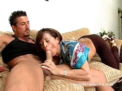 Super hot Devon Michaels deliciously fucks their way lover's cock with their way mouth