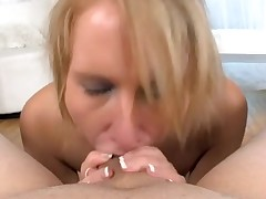 Sexy sweetheart is charming man with wicked oral job