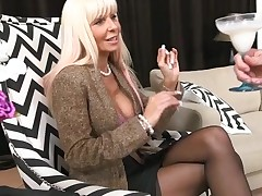 Horny mother I'd like to fuck out of hesitation jumps onto a hard dong